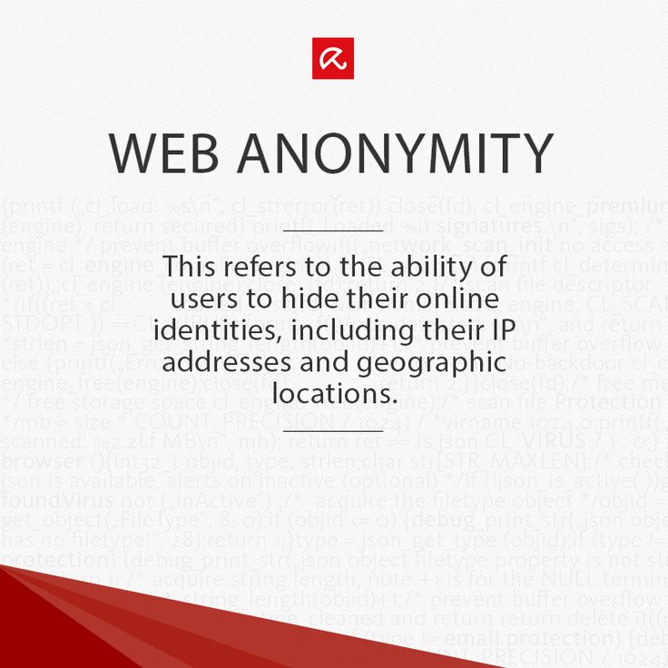 Wondering what #WebAnonymity is? Find out more in our glossary! #ITSecurity #infosec