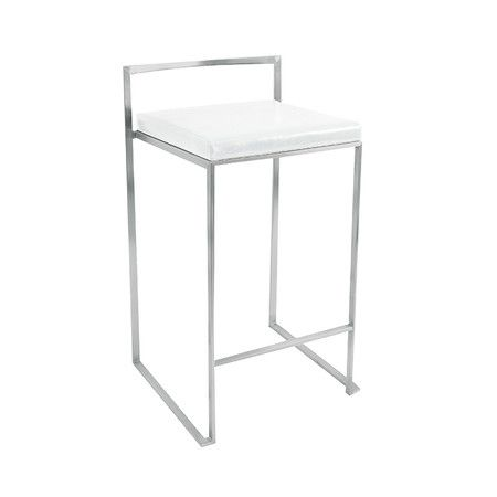 "Found it at AllModern - Fuji 27"" Counter Stool in Whitehttp://www.allmodern.com/deals-and-design-ideas/p/Bar-Stools-Under-%24150-Fuji-27%22-Counter-Stool-in-White~LMS2471~E14235.html?refid=SBP.rBAZEVLgVkW5Ll5BQuTPAmZ72lwtoUGGoBgQpq1CBDw"