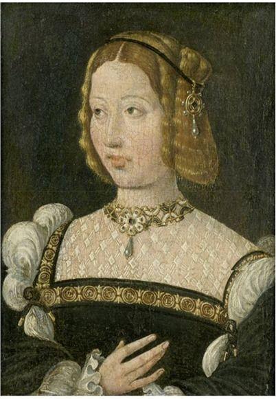Jan Cornelisz Vermeyen (c.1500–1559)  Isabel de Portugal 17 x 12,7 cm. colecção particular vendido num leilão da Christie's em 1999
