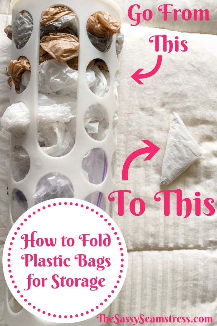 how to Fold Plastic Bags for Easy Storage.