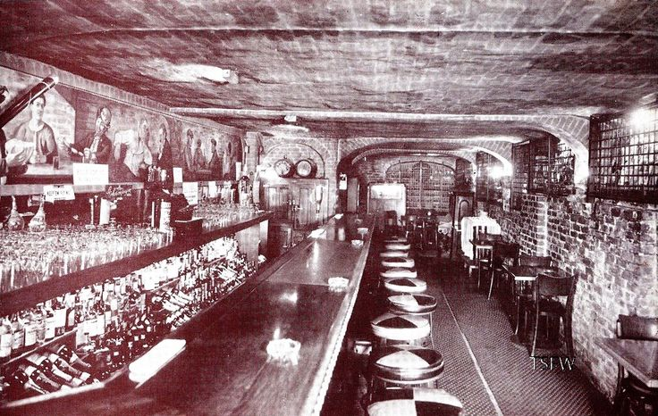 'Visit Our Famous Cellar' THE BACKYARD CELLAR  1024 KEARNY STREET   San Francisco 11, California. The Backyard Cellar, was an underground lair. This bar was hidden away in the basement of the celebrated Backyard Restaurant in North Beach, located at 1024 Kearny, and operated from about 1935 to 1953.