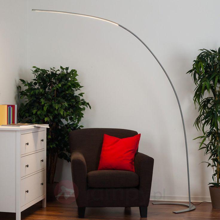 Srebrna lampa stojąca LED DANUA 9620433