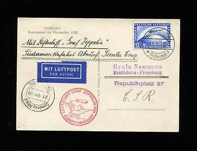 Zeppelin #sieger 57j 1930 1st south america #flight to cape #verde on flood card,  View more on the LINK: 	http://www.zeppy.io/product/gb/2/231401523243/