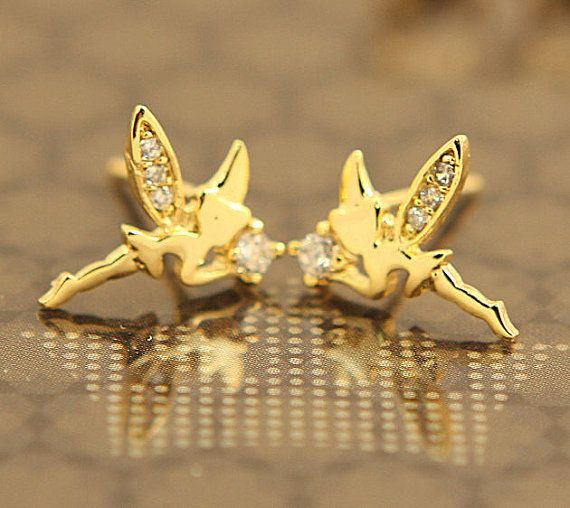10 OFF Cute Mini Tinkerbell Stud Earrings For by JamiesQuilting, $16.00