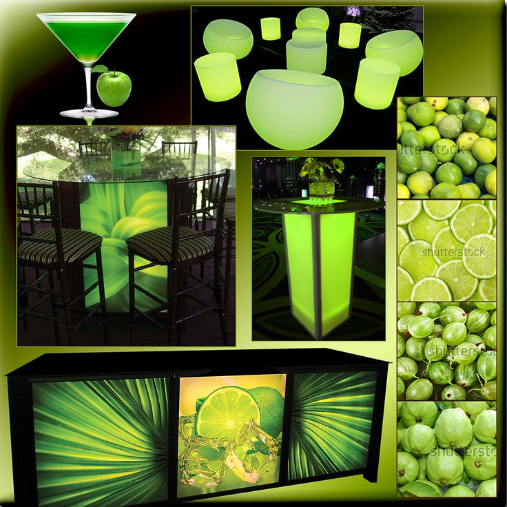 iogeventdesignIt's 5:00 somewhere.....time to indulge in a luscious glowing event! This tropical environment is created with a stunning bar, coordinating light box dining tables, and gleaming cocktail tables. Guests lounge atop fun acrylic furniture. Grab me an Appletini as I enjoy my tropical themed party! #iogeventdesign #illusionsofgrandeur #eventdesign #eventdecor #eventplanning #cocktailparty #glowing #fruit #tropicalparty #tropical