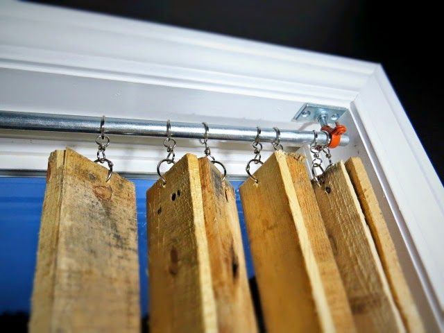 Over on Flipping the Flip: DIY Pallet Wood Vertical Blinds -- What what?!