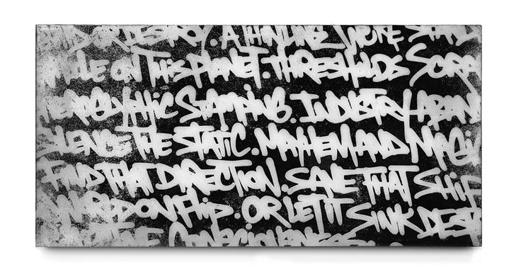 BISCO SMITH - VERSE 2 - 24 x 12 - mixed media on wood w/ resin finish - 2013