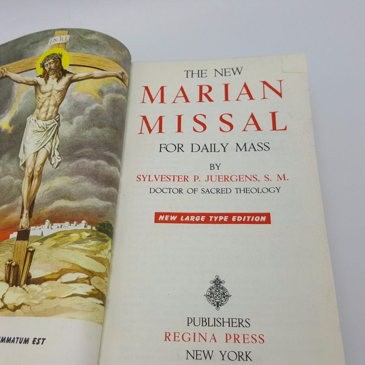 Vintage Catholic Missal Lot 2 Marian Mass Book Pre Post Vatican II 2 Juergens | eBay