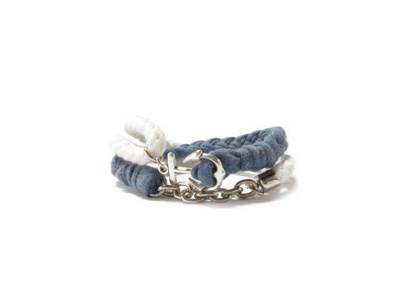 Hey, I found this really awesome Etsy listing at https://www.etsy.com/listing/239876844/nautical-bracelet-with-anchor-nautical