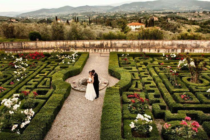 Kissed at Villa Corsini in Florence