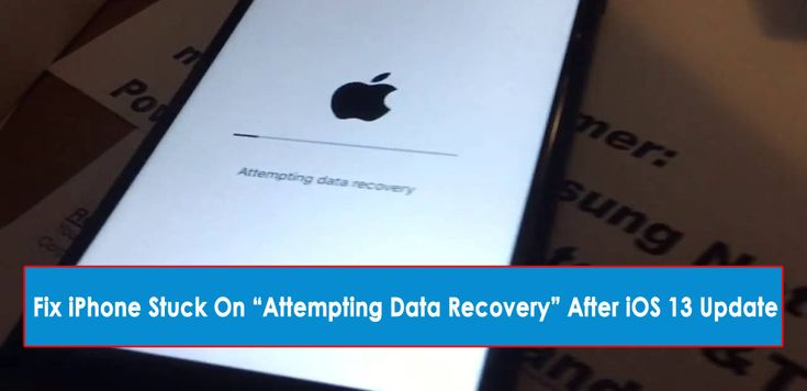 Know how to fix iphone stuck on attempting data recovery
