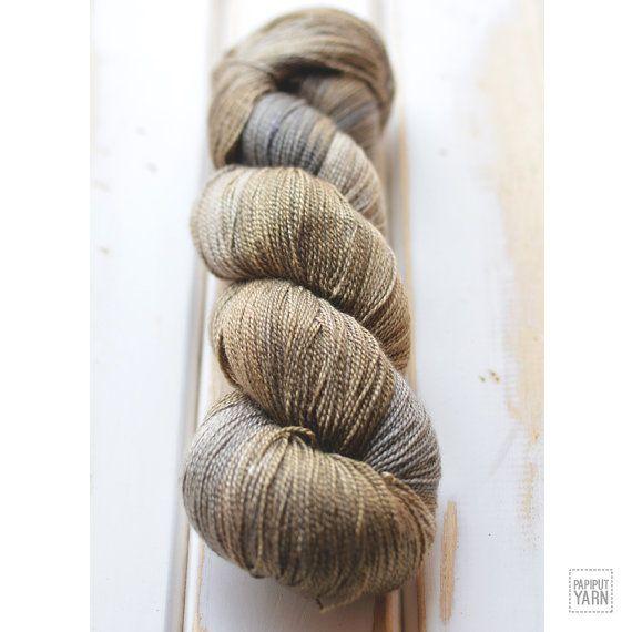 Hand Dyed Silky Merino Sport Yarn Bakau by PapiputYarn on Etsy. 50% merino, 50% silk. 100 g, 700 m
