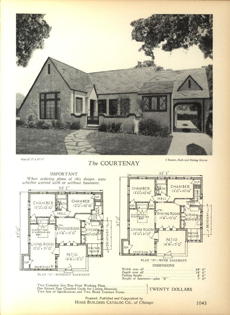 1000 images about house plans 1900 1930s on pinterest for Types of house plans