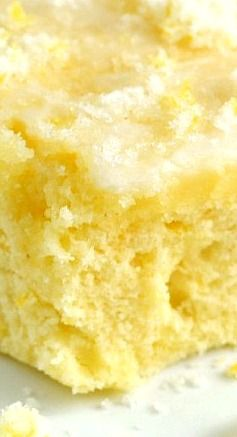 Buttermilk Lemon Sheet Cake With a Crunchy Lemon Sugar Topping... Refreshing and Super Delicious!!
