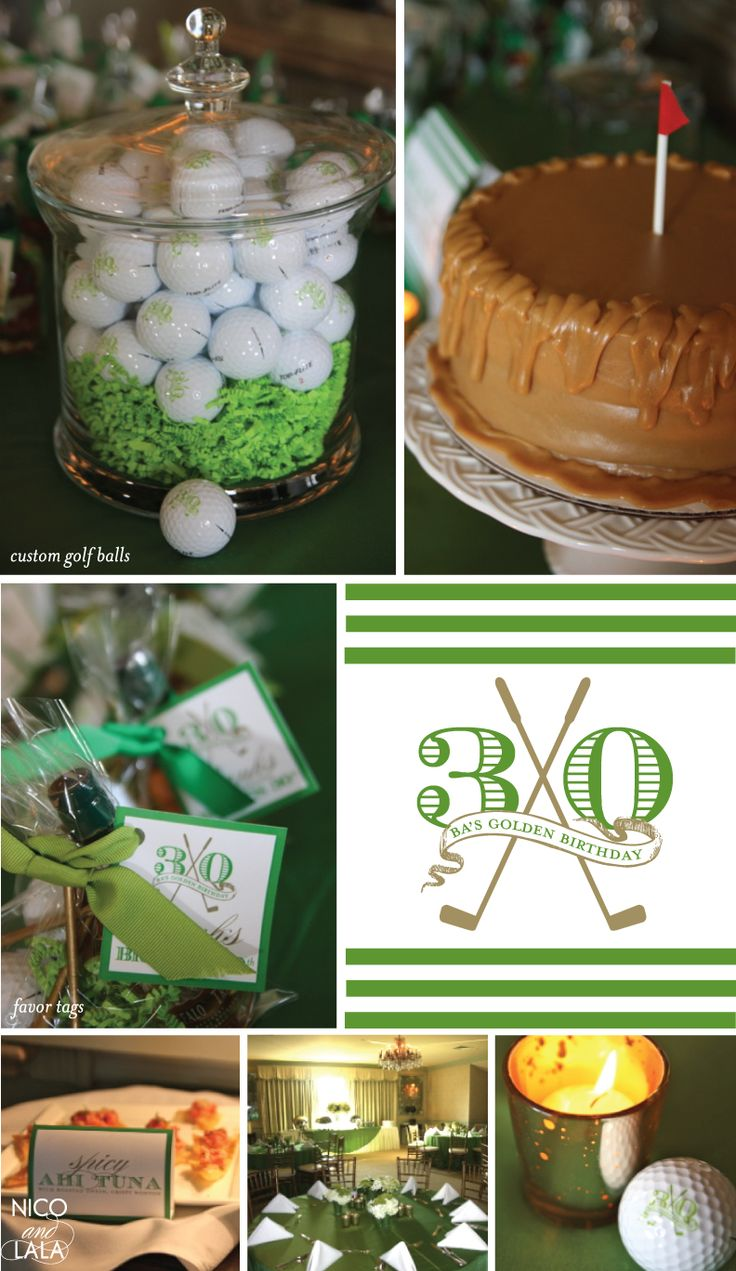 golf theme 30th birthday | Nico and Lala