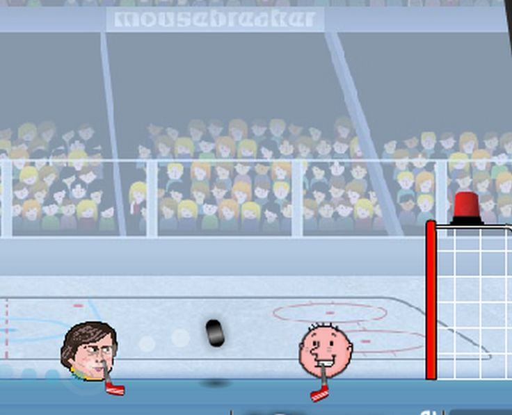 The big headed sports players return in time for NHL hockey season! Compete against the computer or a friend in this funny ice hockey game. Score as many goals as you can while defending your net. Good luck and have fun you sports head!