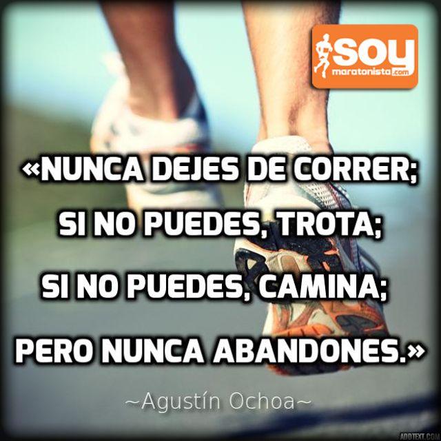 Nunca dejes de ejercitarte #correr #run