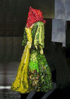 LAVE: octubre 2011, representación de vestuario (análisis de volumen, luz y sombra) con recortes de revista