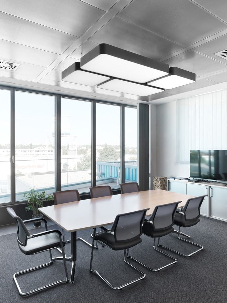 Boardroom lighting thinking inside the square prolicht smoothy pendants
