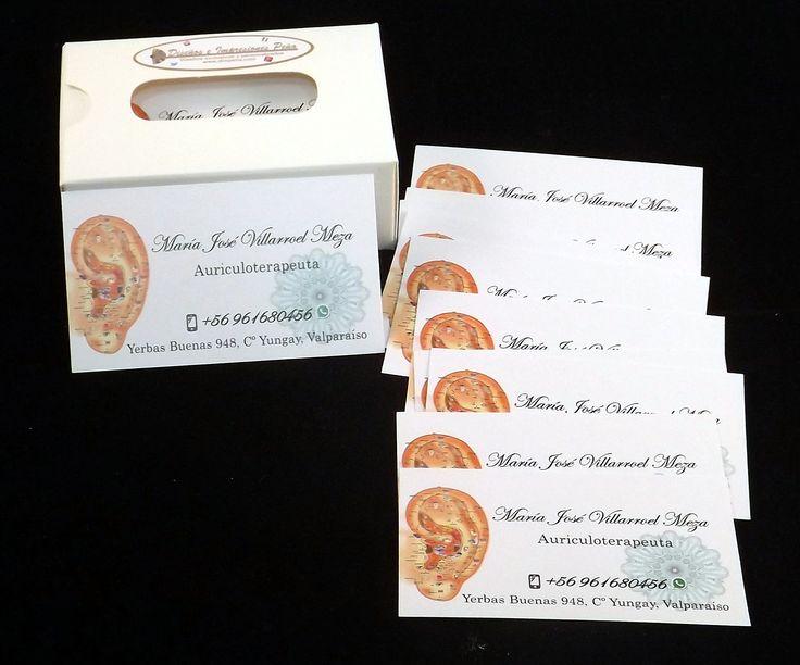 Tarjetas de presentación, solicitadas por María José Villarroel. Diseños e Impresiones Peña #dimpena #valparaiso #chile #businesscards