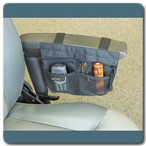 power wheelchair arm pouch