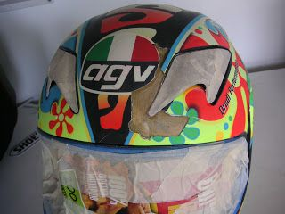 Repair on a customer's helmet (before and after images) #152 ~ Hand Painted Helmets - Design your helmet today..!!
