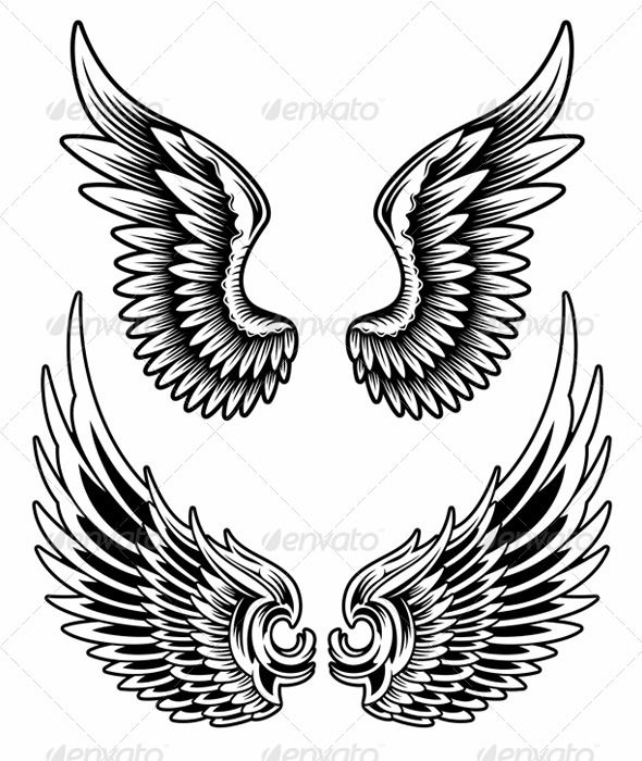 Wings Set Vector  #GraphicRiver         fully editable vector illustration (editable EPS) of wings set on isolated white background, image suitable for design element on emblem, insignia or tattoo, package contains : JPG image 3600×5000 pixels and EPS vector file     Created: 10October13 GraphicsFilesIncluded: JPGImage #VectorEPS Layered: Yes MinimumAdobeCSVersion: CS Tags: ArtificialWing #angelwings #badge #birdwings #blackandwhite #collection #decoration #decorative #designelements…
