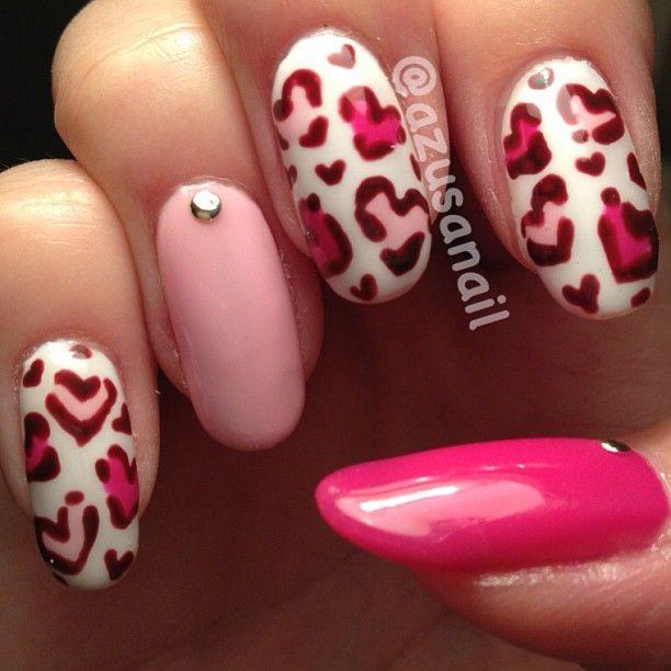valentine by azusanail #nail #nails #nailart