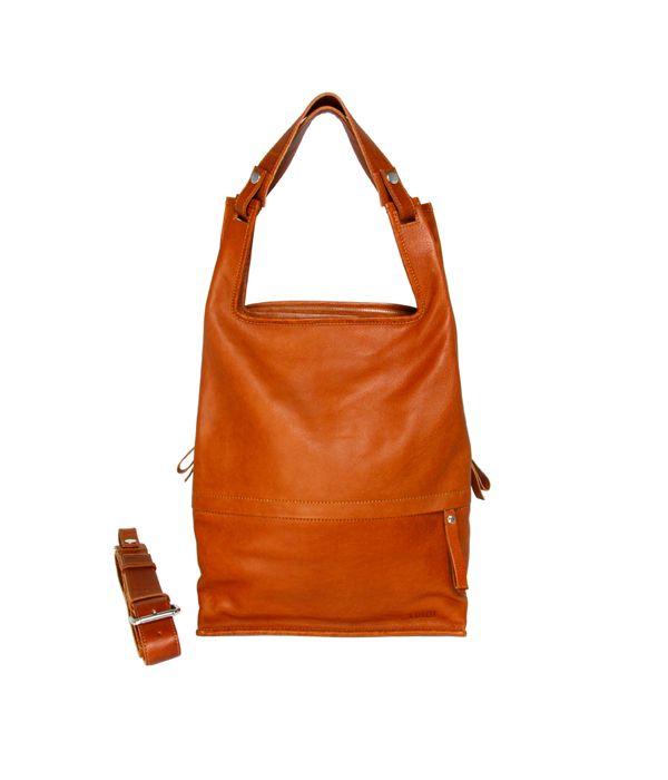 Eco Supermarket Laptop Bag Cognac | Lumi Accessories