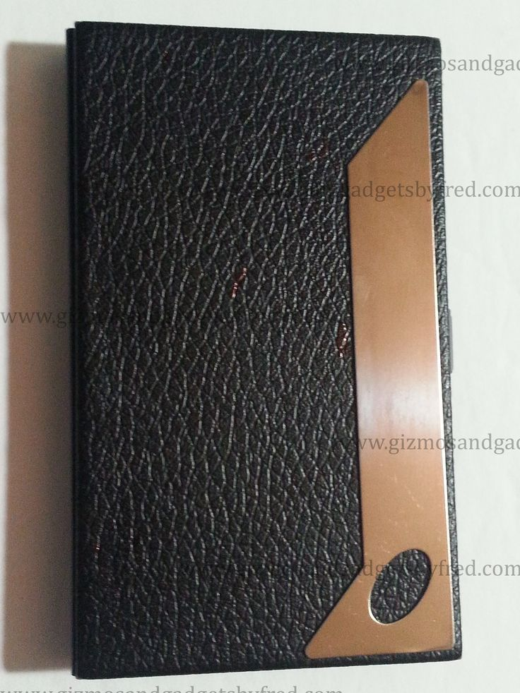 Leather style patterned business card case. Can hold a comfortable 10 to 20 cards depending on thickness. Details at www.gizmosandgadgetsbyfred.com