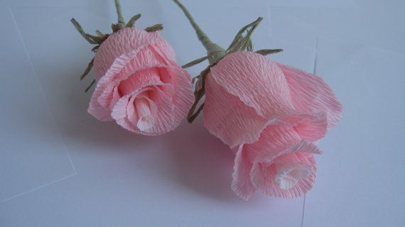 Wedding Roses Table Decorations Crepe Paper by moniaflowers