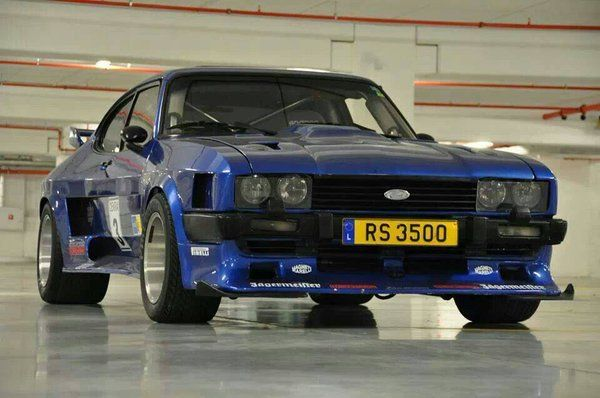 Mk3 Ford Capri - If anybody has any information about this car, please message me, as I am really interested in its full spec etc. Just as a guess and looking at the 'RS 3500' number plate, I wouldn't be surprised if this has a Rover 3500 V8 in it, but I would like to know more. Mainly regarding the installation of a Rover 3500 V8 into a Capri. Thanks.