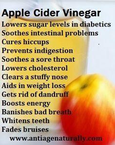 Apple Cider Vinegar Benefits #antiaging #weightloss