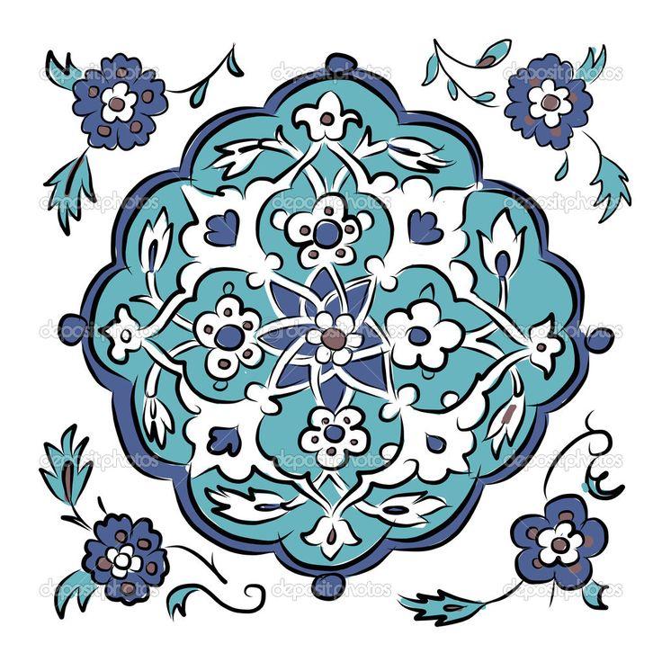 Абстрактный узор Турции для вашего дизайна - Стоковая иллюстрация: 50033123