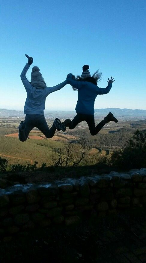 #selfies with friends  #cool selfies with friends #jumping off mountain  #winter Follow #Helena Swart for more cool selfies