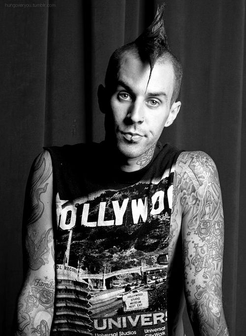 Travis Barker - incredible drummer. Blink-182