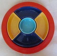 Vintage Fiestaware HLC Divided Relish Tray