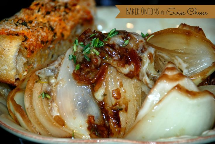 Baked Onions with Swiss Cheese