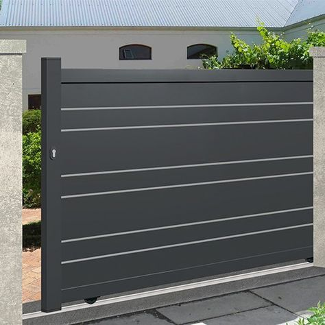 Les 25 meilleures id es de la cat gorie portail coulissant sur pinterest porte entree maison - Porte exterieure lapeyre ...