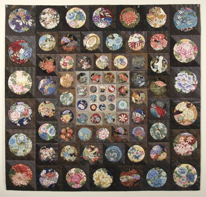 For my japanese fabric? Karen Fisher art quilt with Asian fabrics