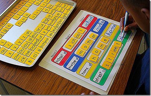 Read it, spell it, write it activity