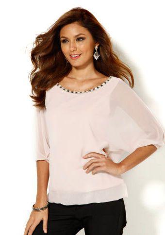 Polotransparentní halenka se 3/4 rukávy #ModinoCZ #blouse #elegance #fashion #formal #bluza #halenka #moda