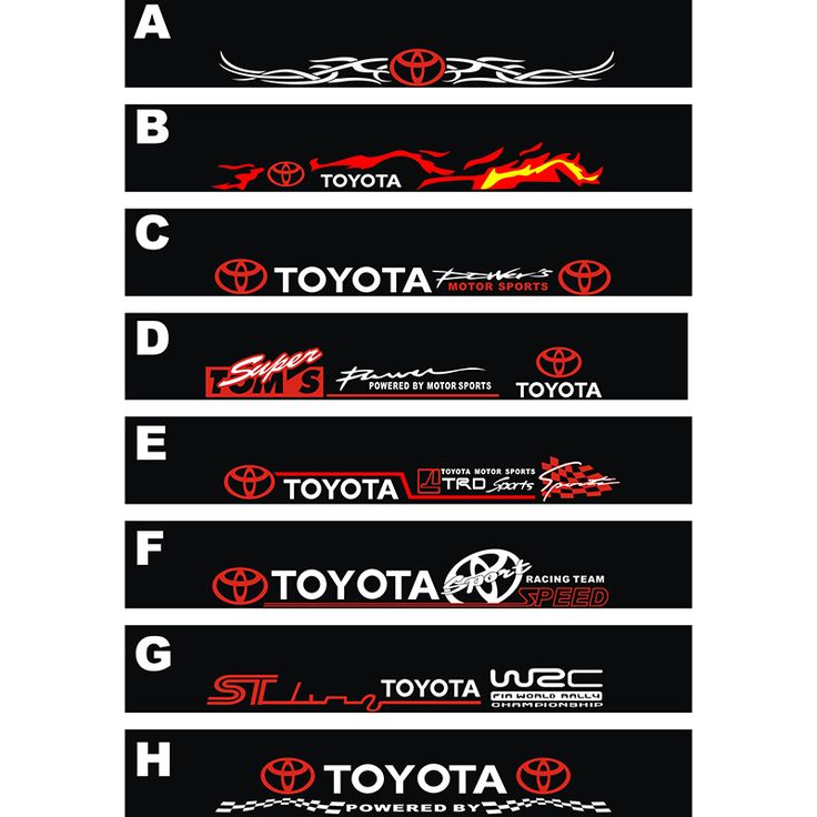 Best Toyota Decals Images On Pinterest Decals Toyota And - Front window stickers for car