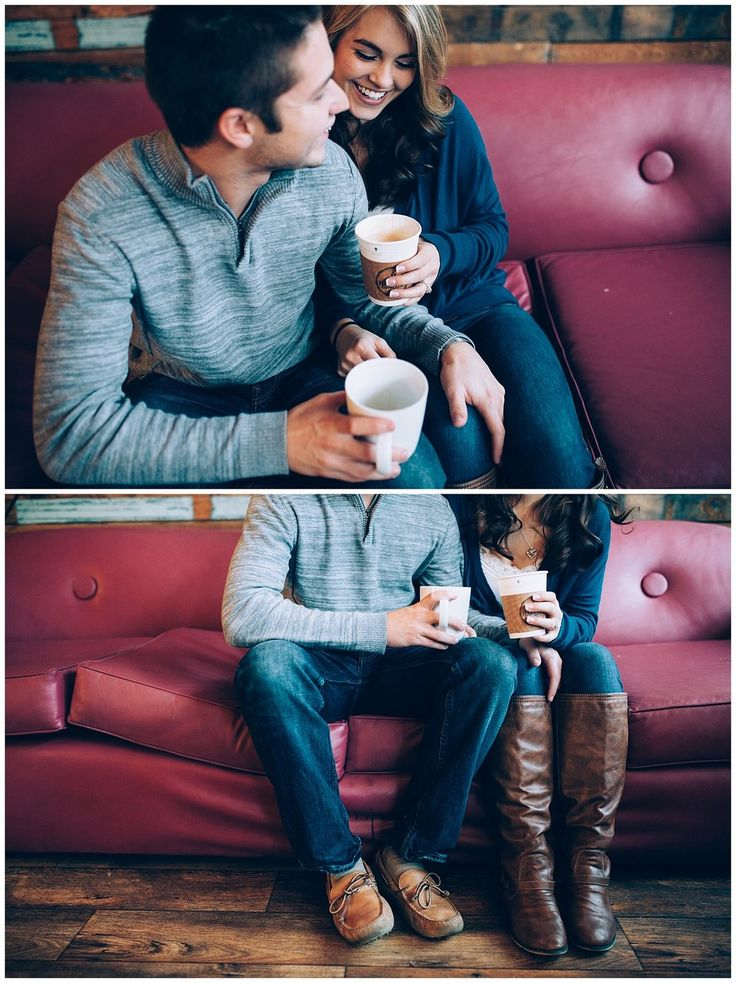 coffee shop engagement photos, harvest coffee & cafe, shelbyville, kentucky engagement photography, photographing in rain, lifestyle engagement session || kendra lynne photography http://www.kendralynnephotography.com/blog-2/2016/10/27/baker-tiffany