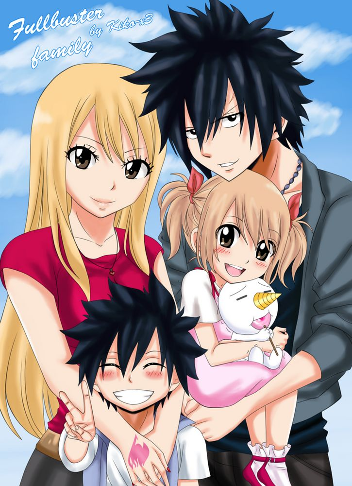 fairy tail grey and lucy family - Google Search