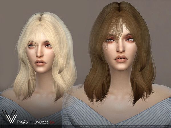 Wingssims Wings On0826 Sims Hair Sims 4 Womens Hairstyles