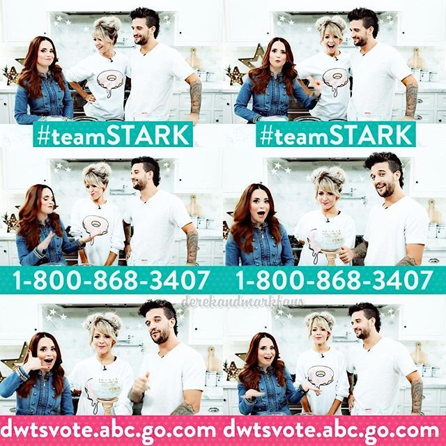 Don't forget to vote for #TeamStark tonight!! Here's their number and the link for voting on abc.com! Also remember that you can vote on Facebook as well! They'll be dancing a Sci-Fi Argentine Tango tonight! #dwts #markballas #lindseystirling #rosannapansino #nerdynummies