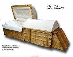 Covered Wagon Casket...who is buying this?