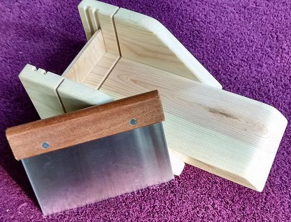 Wood Soap Cutting Box and Cutter by OzarkSoapMolds on Etsy