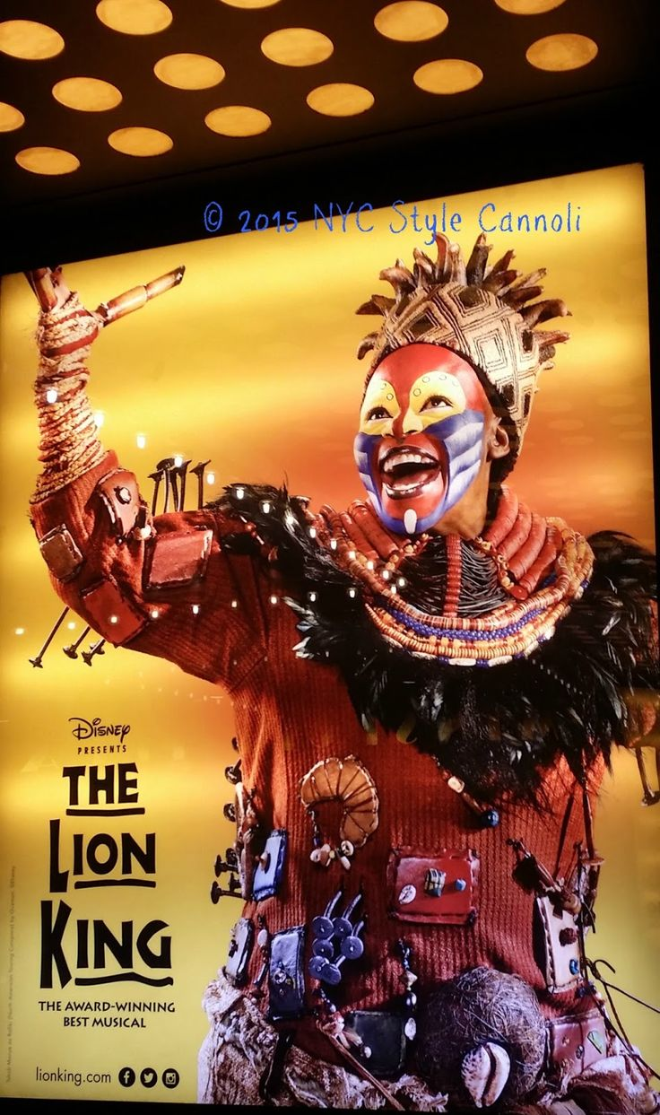 NYC, Style and a little Cannoli: Disney The Lion King on Broadway Ticket Giveaway!